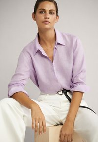 Massimo Dutti - Button-down blouse - mauve - 3