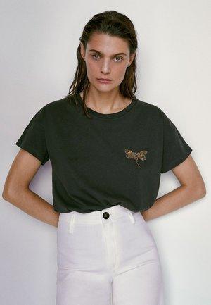 BAUMWOLL MIT LIBELLE 06893784 - T-shirt con stampa - blue-black denim