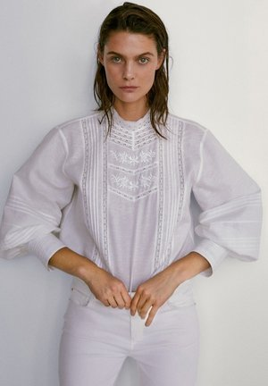 BESTICKTES - Camicia - white