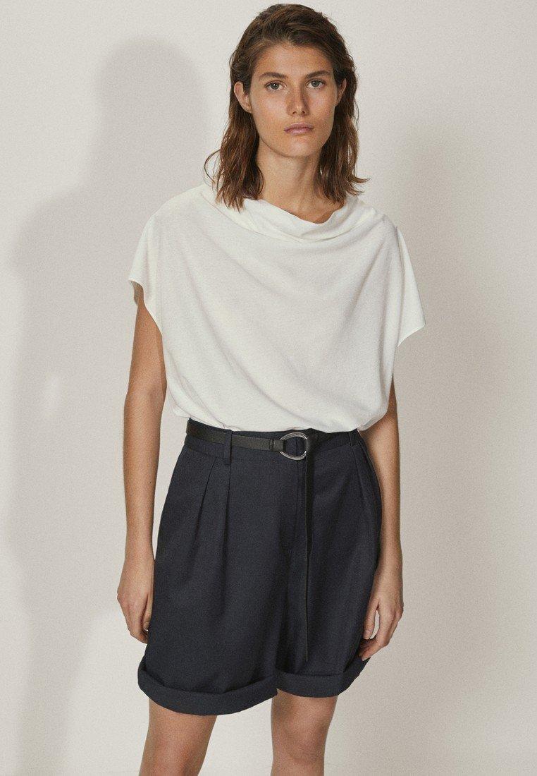 Massimo Dutti - MIT SCHLEIFE AM RÜCKEN  - T-shirt con stampa - white
