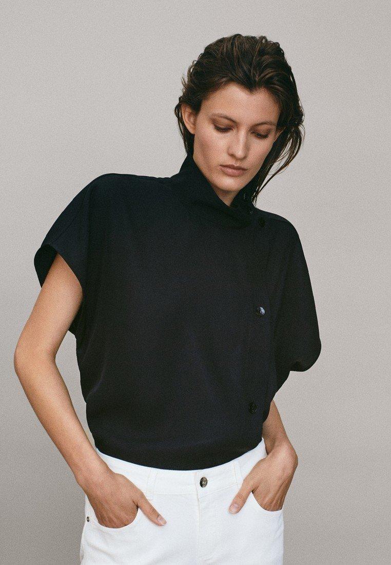 Massimo Dutti - Button-down blouse - black