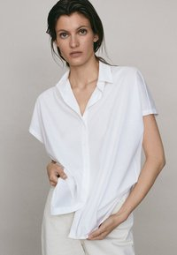 Massimo Dutti - Button-down blouse - white - 0