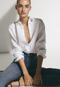 Massimo Dutti - Button-down blouse - white - 4