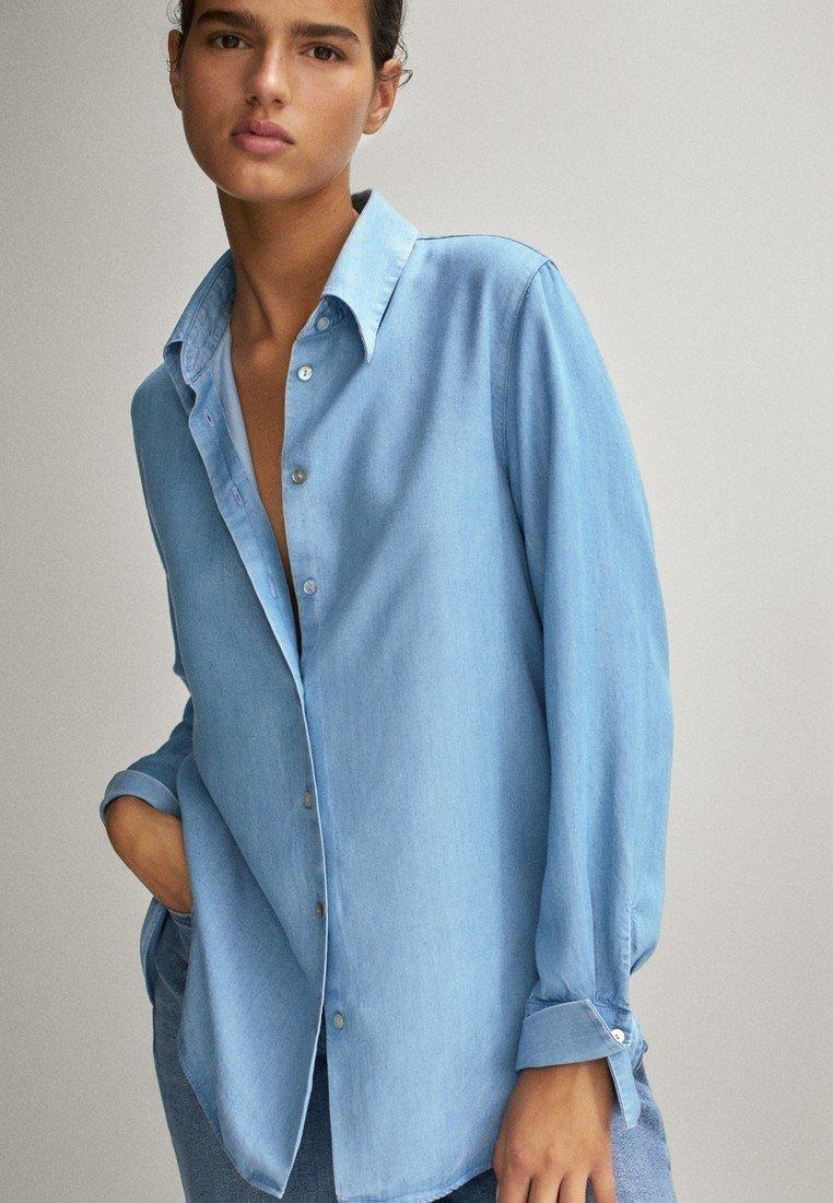 Massimo Dutti - Overhemdblouse - light blue