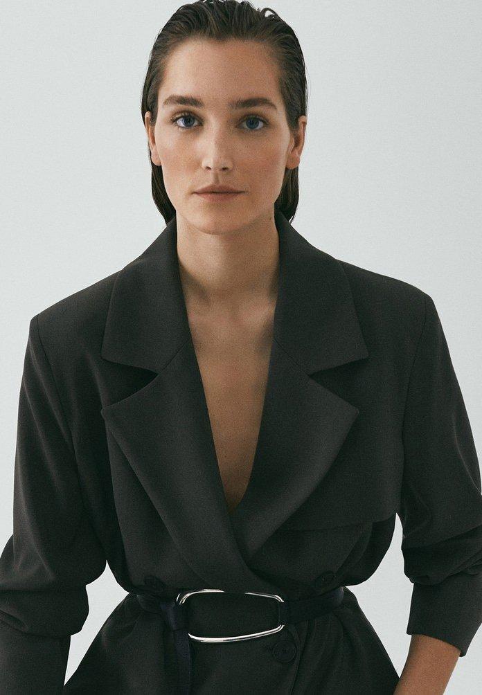 Massimo Dutti LIMITED EDITION - Płaszcz wełniany /Płaszcz klasyczny - grey