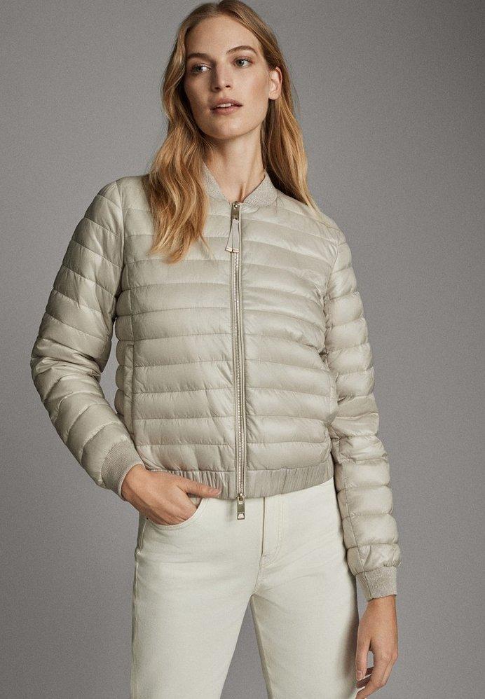 Massimo Dutti - MIT METALLICVERZIERUNG - Winter jacket - beige