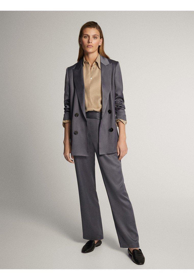 Massimo Dutti Krótki płaszcz - dark grey