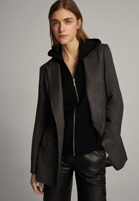 Massimo Dutti - Zip-up hoodie - black - 3