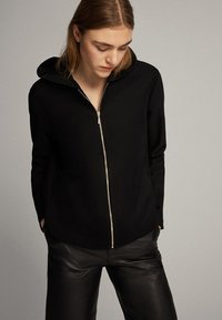 Massimo Dutti - Zip-up hoodie - black - 0