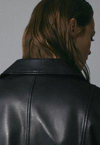 Massimo Dutti - Leren jas - black - 6