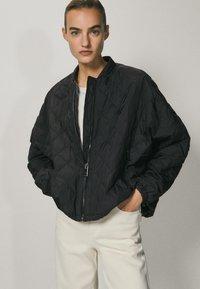 Massimo Dutti - Bomber Jacket - black - 0