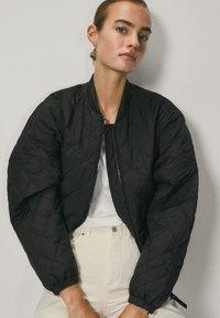 Massimo Dutti - Bomber Jacket - black - 3