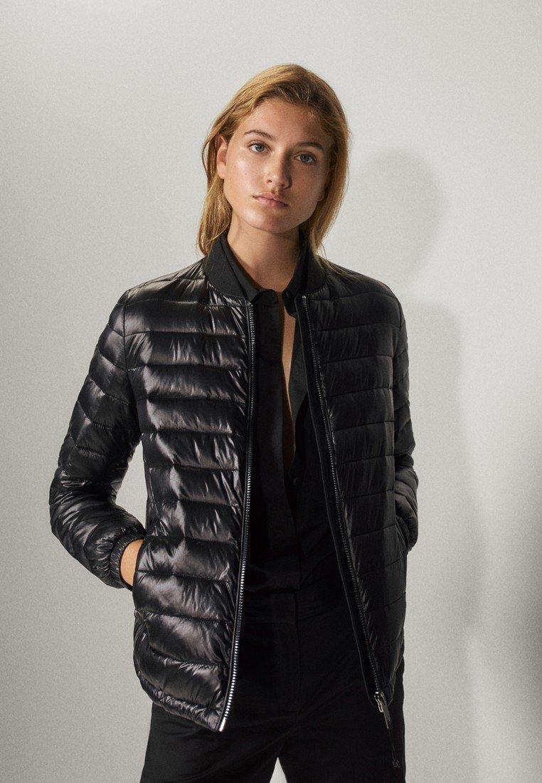 Massimo Dutti Bomberjacke - black   Damenbekleidung billig