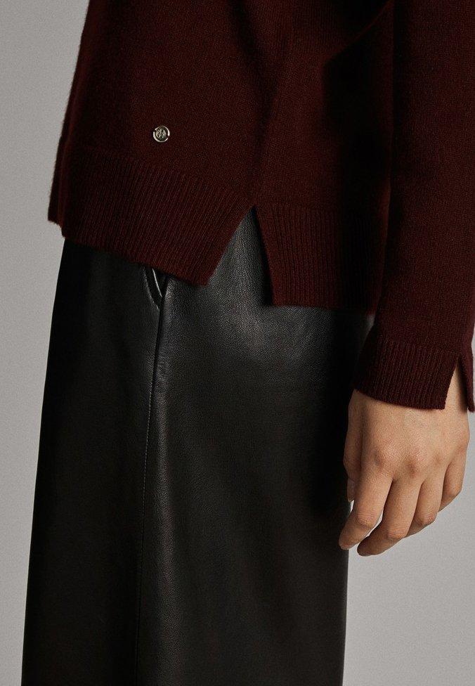 Massimo Dutti Cashmere - Pullover Bordeaux