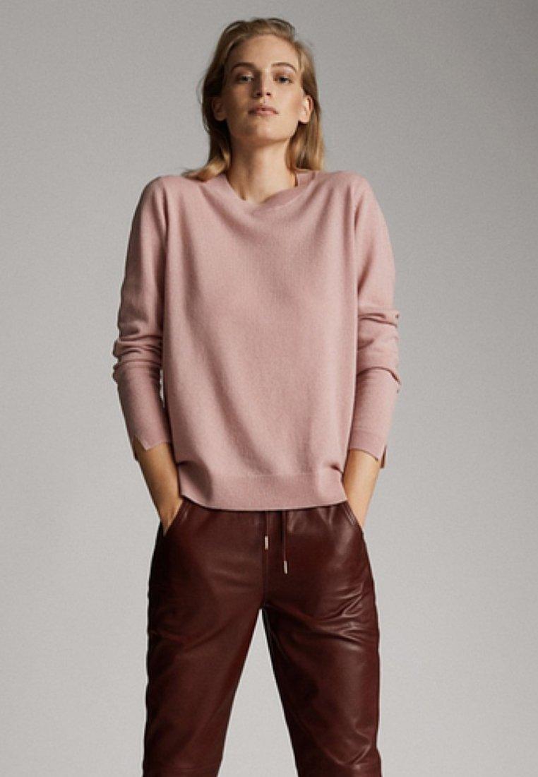 Massimo Dutti - CASHMERE - Stickad tröja - neon pink