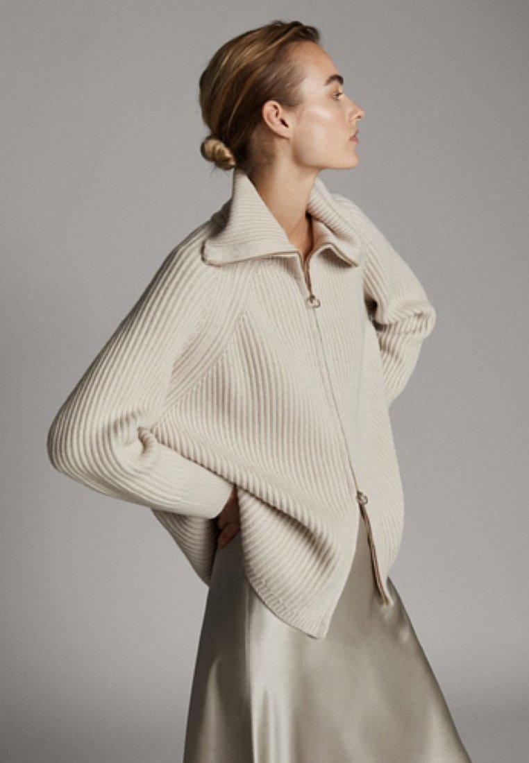 Massimo Dutti - MIT ROLLKRAGEN UND REISSVERSCHLUSS - Pullover - beige