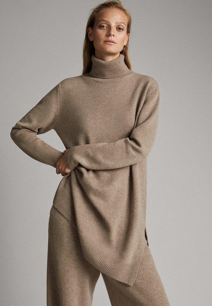 Massimo Dutti - TUNIKA - Sweter - ochre