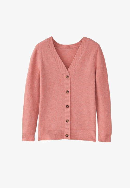 Massimo Dutti Kardigan - neon pink Odzież Damska KAEI-QN7 30% OBNIŻONE