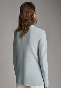 Massimo Dutti - MIT GERIPPTEM STEHKRAGEN - Jumper - light grey - 1