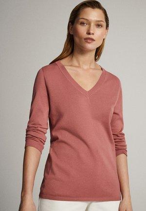 MIT V-AUSSCHNITT  - Sweter - light pink