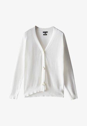 MIT V-AUSSCHNITT UND KNOPF - Cardigan - white