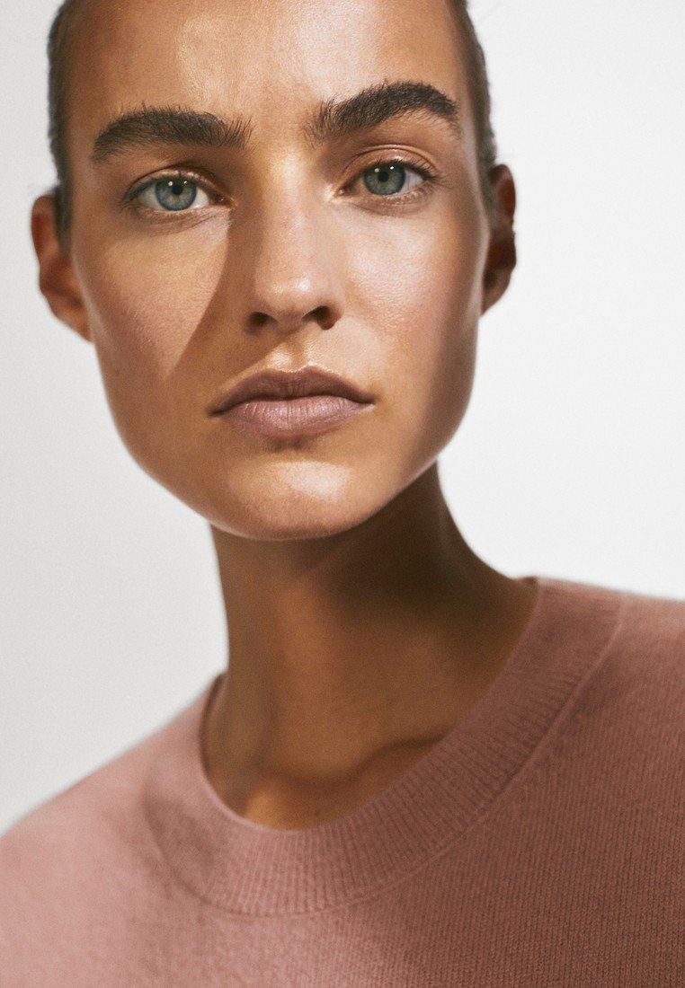 Massimo Dutti Aus 100% Kaschmir Mit Rundausschnitt - Trui Neon Pink