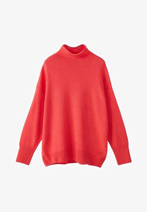 trwałe modelowanie Massimo Dutti Sweter - rose Odzież Damska XIRH-NZ7