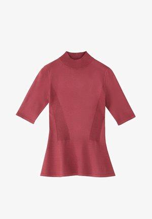 PULLOVER MIT GERIPPTEM STEHKRAGEN UND SCHÖSSCHEN 05623927 - T-shirt print - neon pink