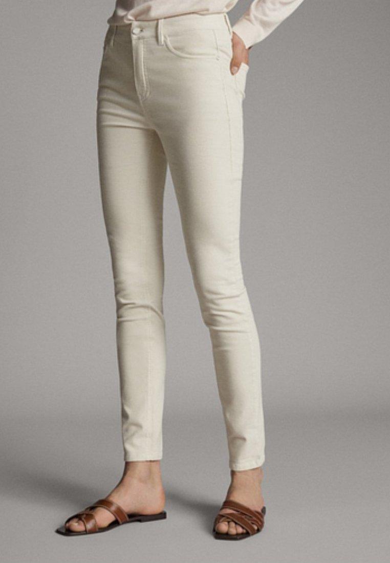 Massimo Dutti - Jeans Skinny Fit - beige