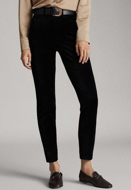 Massimo Dutti - MIT HOHEM BUND  - Spodnie materiałowe - black