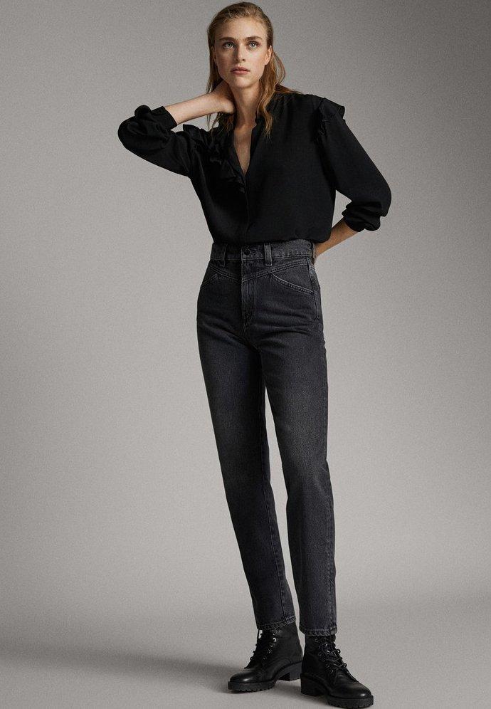 Massimo Dutti - Jeans Slim Fit - black