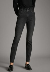 Massimo Dutti - MIT HOHEM BUND  - Jean slim - black - 0