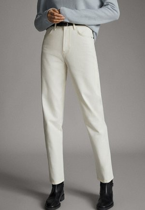 Jeans a sigaretta - beige