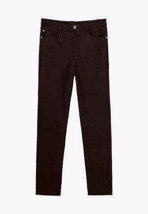 MIT HOHEM BUND  - Trousers - brown