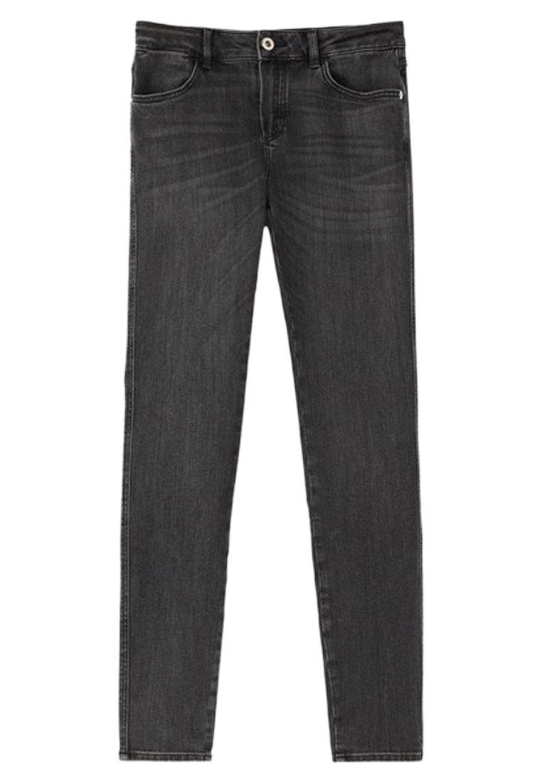 Massimo Dutti SKINNY-FIT-JEANS MIT MITTELHOHEM BUND 05051703 - Jeansy Skinny Fit - grey