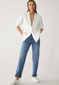 Massimo Dutti - MIT HOHEM BUND - Straight leg jeans - blue - 1