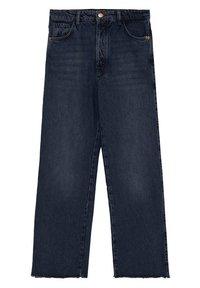 Massimo Dutti - MIT HOHEM BUND UND AUSGEFRANSTEM SAUM  - Flared Jeans - blue - 25