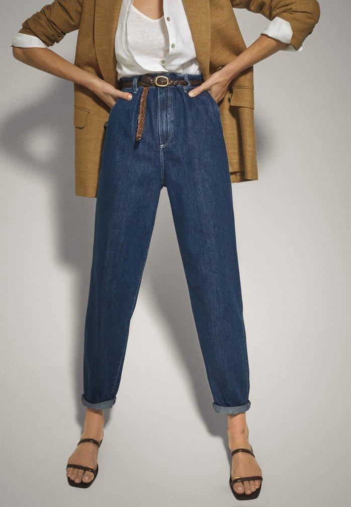 Massimo Dutti - MIT HOHEM BUND 05053724 - Straight leg jeans - blue
