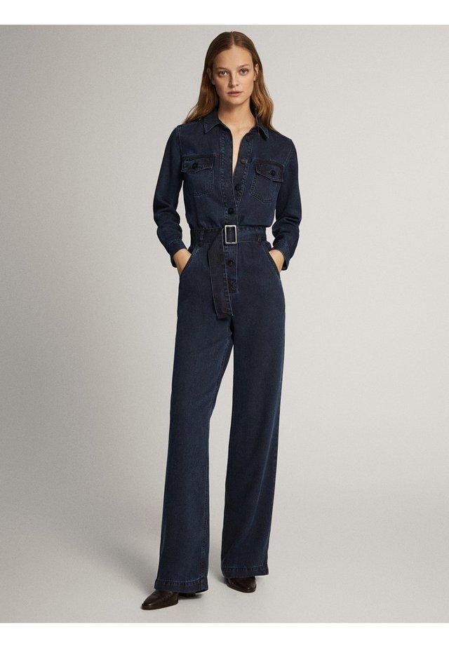 MIT GÜRTEL AUS LYOCELL - Overall / Jumpsuit - dark blue