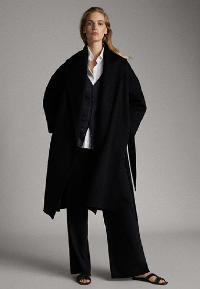 Massimo Dutti - CASHMERE - Classic coat - black