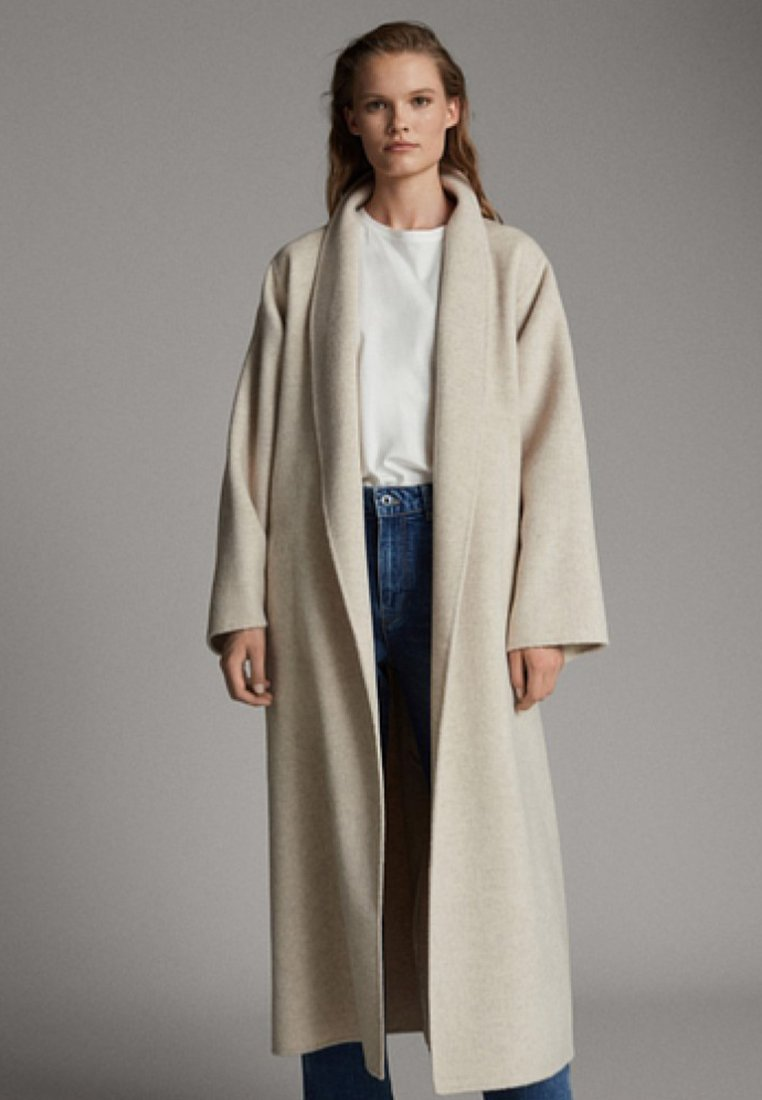 Massimo Dutti - Wollmantel/klassischer Mantel - beige