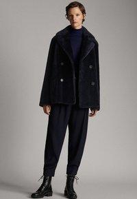 Massimo Dutti - Leather jacket - blue - 1