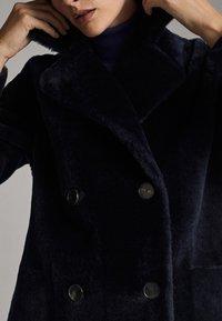 Massimo Dutti - Leather jacket - blue - 4
