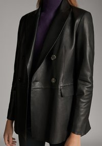 Massimo Dutti - Leather jacket - black - 4