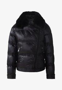 Massimo Dutti - MIT FELLBESATZ - Down jacket - black - 6