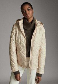 Massimo Dutti - MIT ABNEHMBARER KAPUZE - Winter jacket - beige - 0