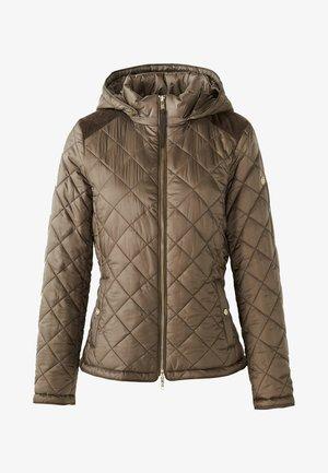 MIT ABNEHMBARER KAPUZE - Down jacket - brown