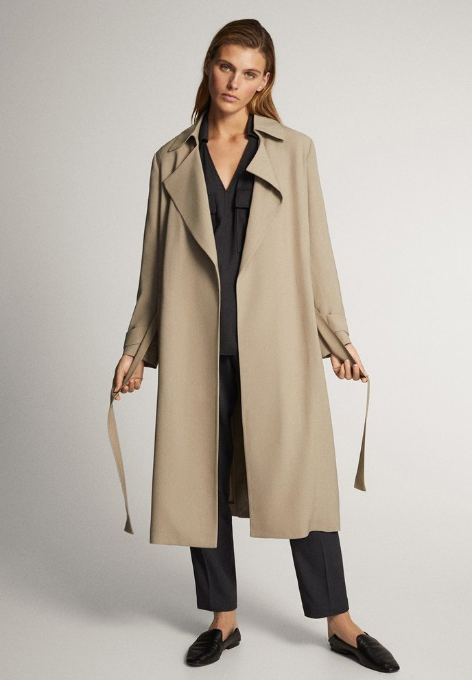 Massimo Dutti - WITH BELT - Trenchcoat - ochre