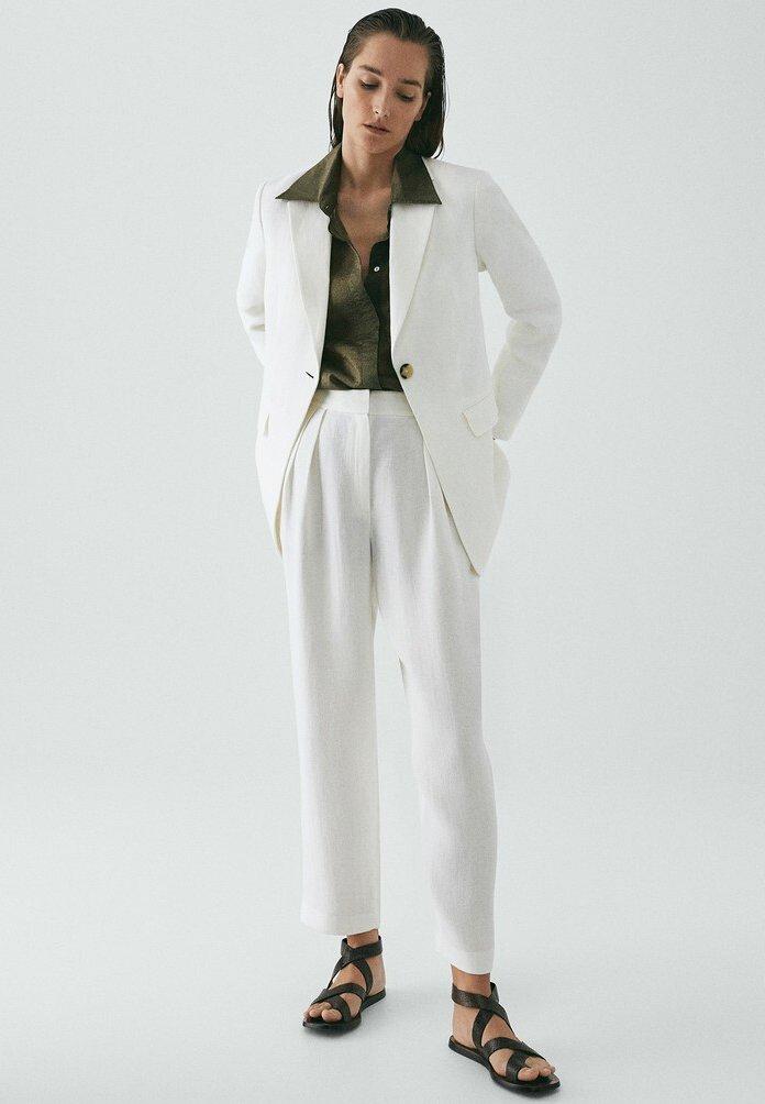 Massimo Dutti MIT KNOPF LIMITED EDITION - Blazer - white
