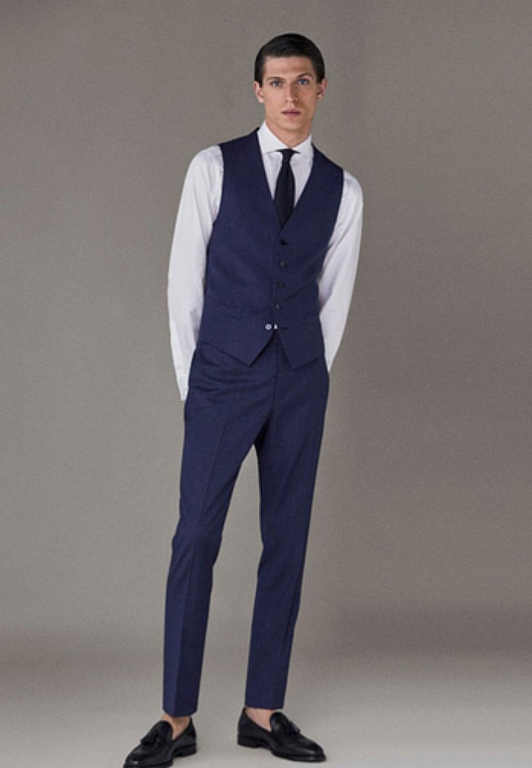 Massimo Dutti - Suit trousers - dark blue